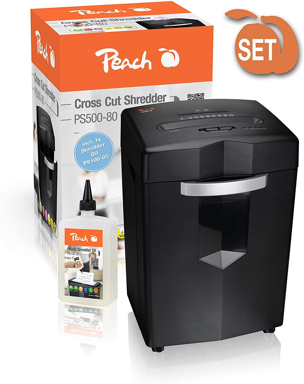 Peach PS500-80 Kreuzschnitt Aktenvernichter test