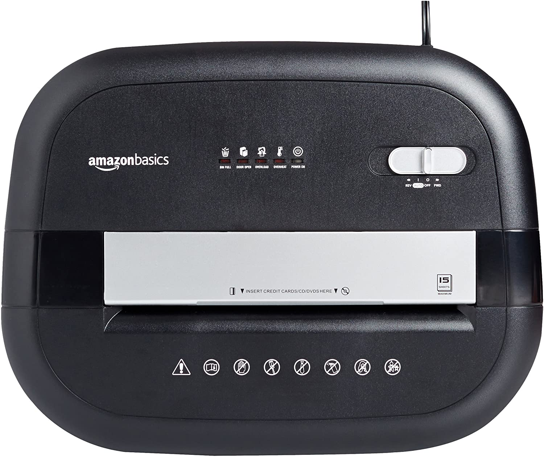 AmazonBasics AU1565XA 15 Blatt Kreuzschnitt-Schredder für 15 Blätter Test