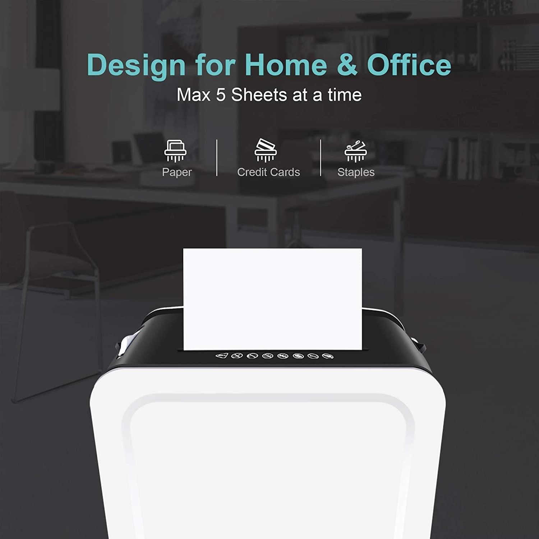 EZBASICS EC01 Aktenvernichter 5 Blatt Kreuzschnitt Papier Home Office Test